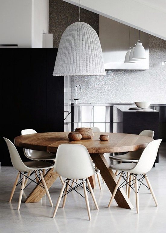 Mesas redondas de madera a medida comedor barcelona - Mesas redondas comedor ...