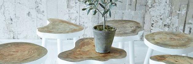 Mesas auxiliares de madera